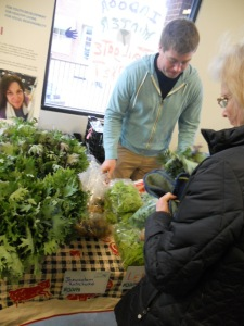 Seth Salmon of Flying Fish CSA and Wildwood Herbal at Woodfin Y Indoor Market