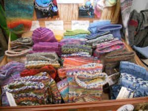 Hand Knitted wool Socks at City Market (Indoors)